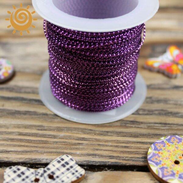 Шнур з люрексом 1 мм, колір фіолетовий 1