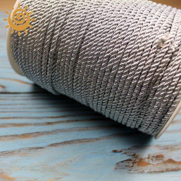Шнур з люрексом 3 мм, колір срібний 1