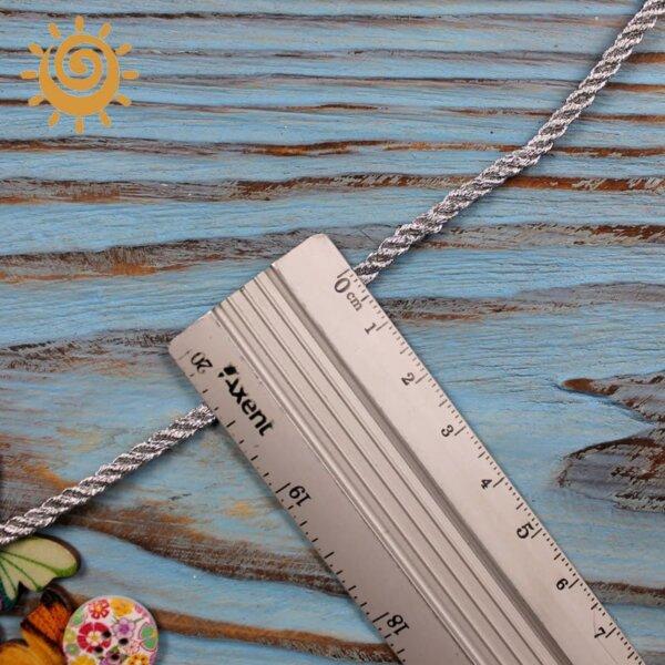 Шнур з люрексом 3 мм, колір срібний 2